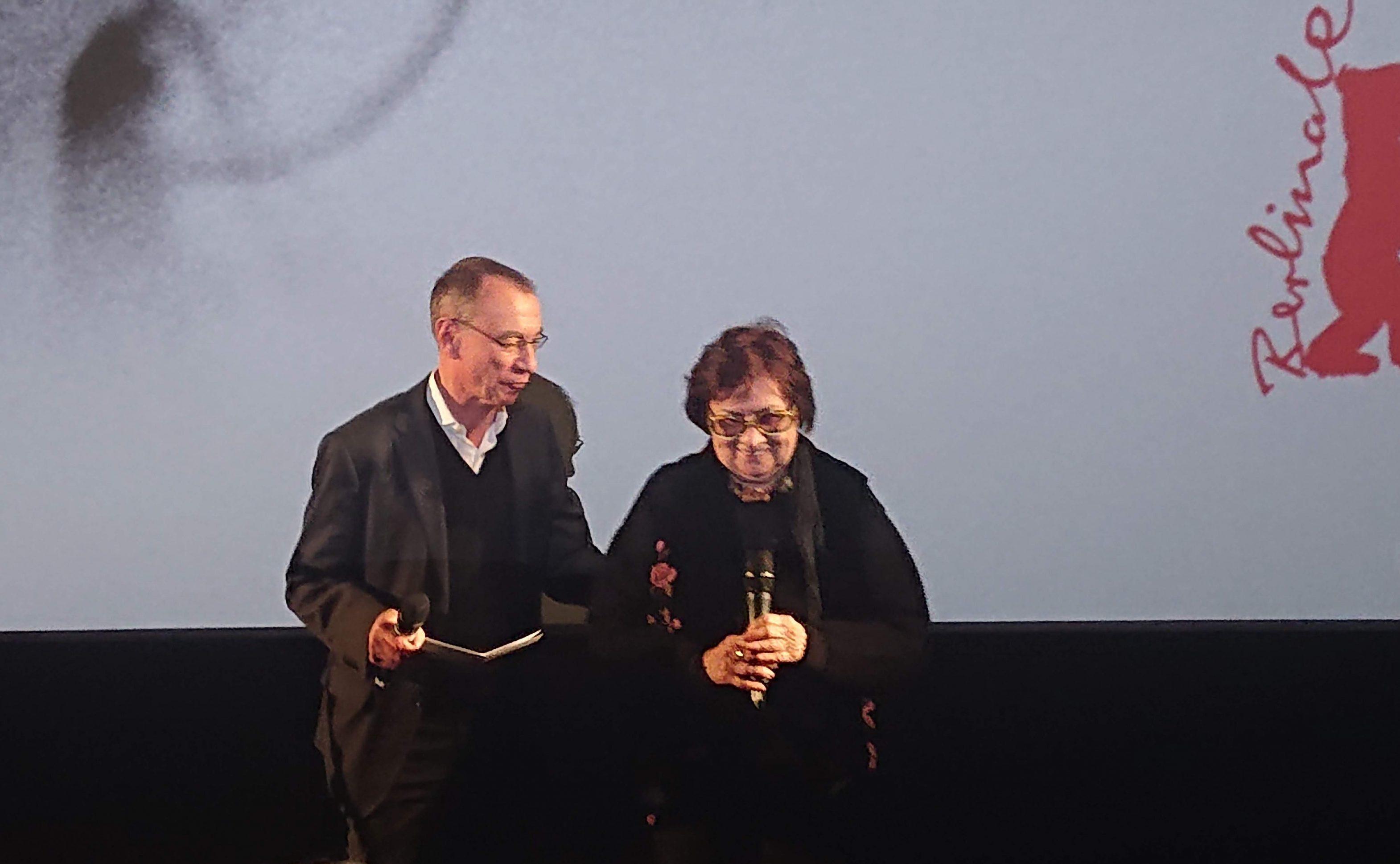 Márta Mészáros befote the screening of Adoption